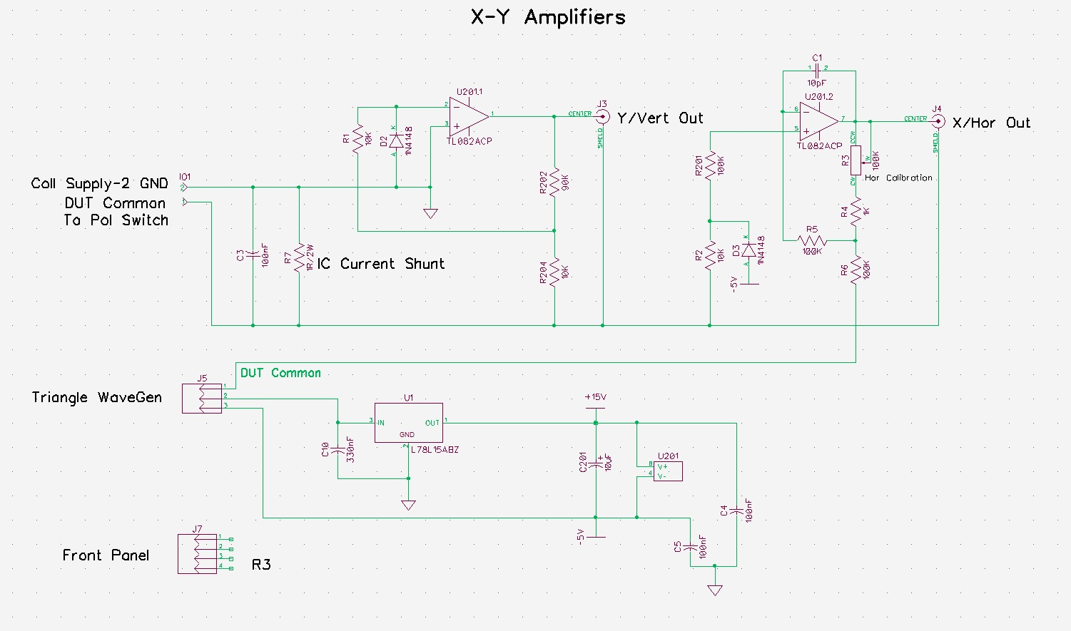 Pauls Diy Electronics Blog Triangle Wave Generator Schematic This 1 Ohm Shunt Is Connected Between The Waveform Circuit Gnd And Collector Drain Or Emitter Source Of Dut Depending On