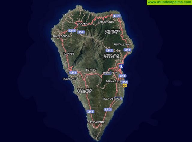 Política Territorial actualiza, a través de Grafcan, más de 70.000 hectáreas del mapa topográfico integrado de La Palma