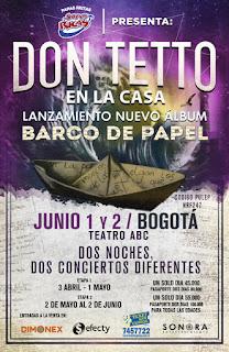 Concierto lanzamiento de DON TETTO en Bogotá 2019 POS 2