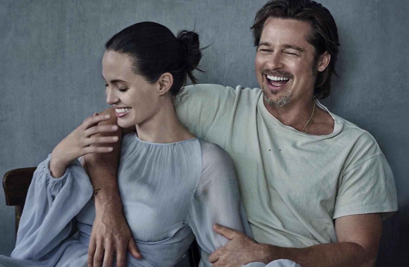 Angelina Joli Und Brad Pitt