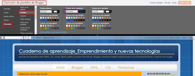 Ver color fondo cabecera blog