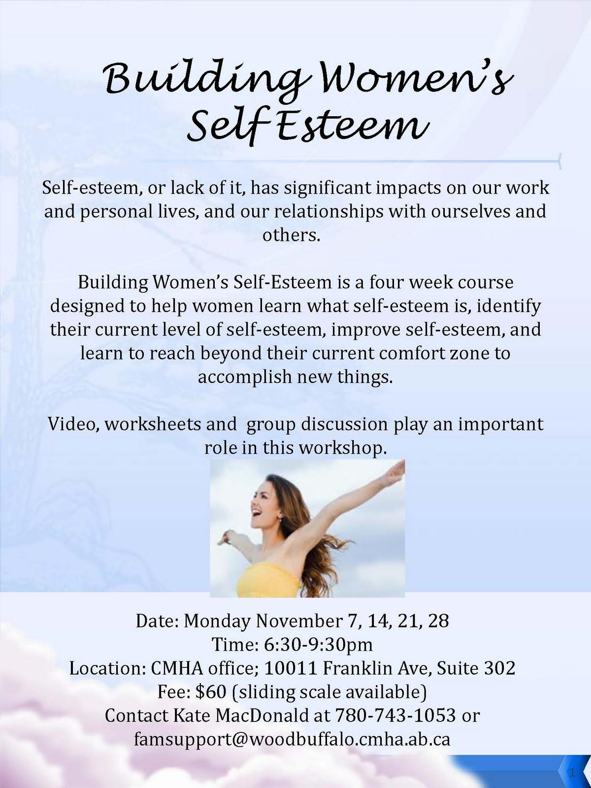 Wood Buffalo Culture Self Esteem Workshop For Women