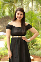 Mannara Chopra in Short Off Shoulder Black Dress ~  Exclusive 069.JPG
