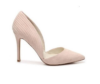 BCBGeneration Nude Suede Efecct Uppers d'orsay heeled pumps