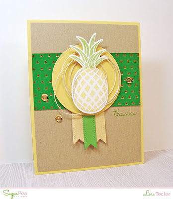 Thanks card-designed by Lori Tecler/Inking Aloud-stamps and dies from SugarPea Designs