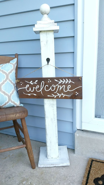 front porch stoop summer makeover update