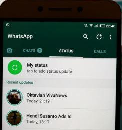 Tidak Bisa Update Status WhatsApp