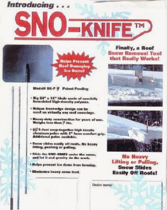 Roof Snow Removal Tool Promotion