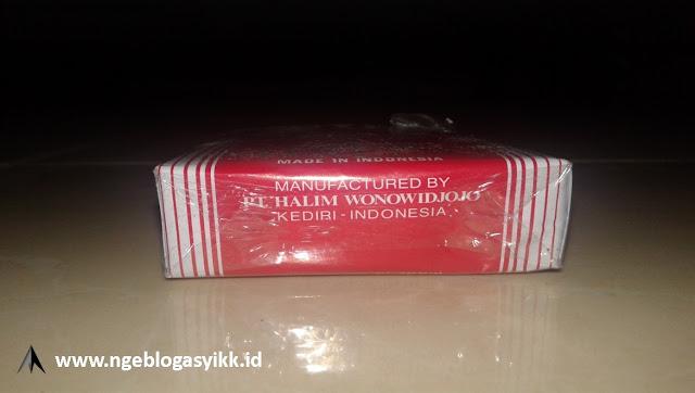 tampak bawah bungkus rokok halim merah