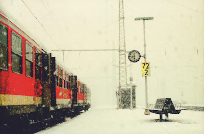 copertina Quota 1222 treno stazione innevata
