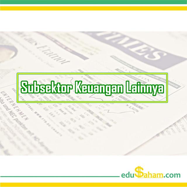 Perusahaan Subsektor Keuangan Lainnya yang Terdaftar di BEI