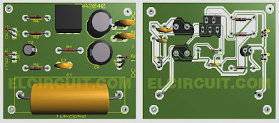 PCB Layout Power Amplifier TDA2030 TDA2040