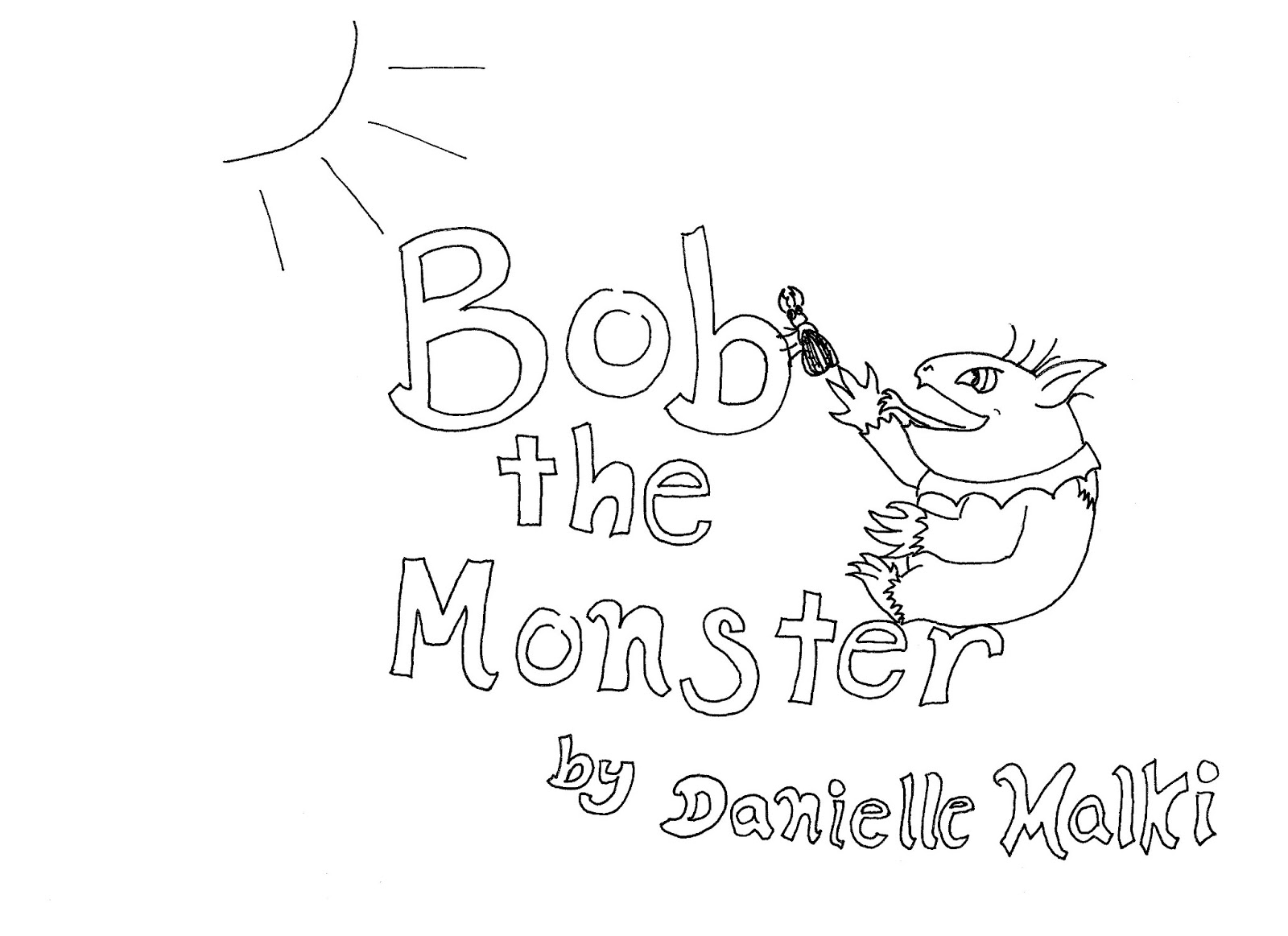 Coloring Page World: Bob the Monster Coloring Story Book