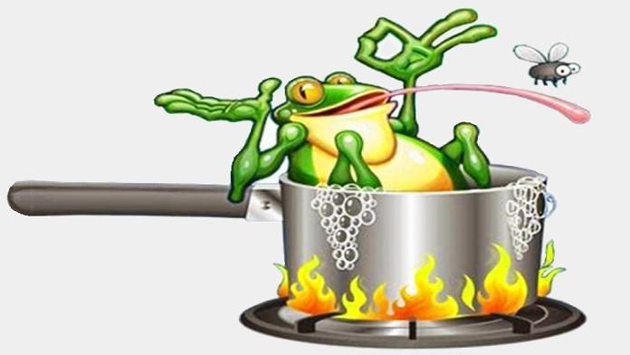 La rana nell'acqua bollente - Anonimo