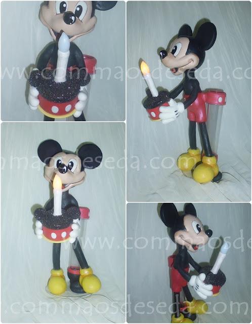 Vela Luminaria Mickey em biscuit 27cm