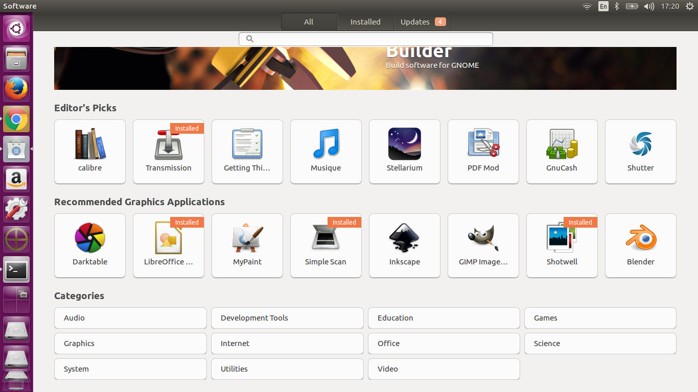 software center ubuntu 16.04 LTS