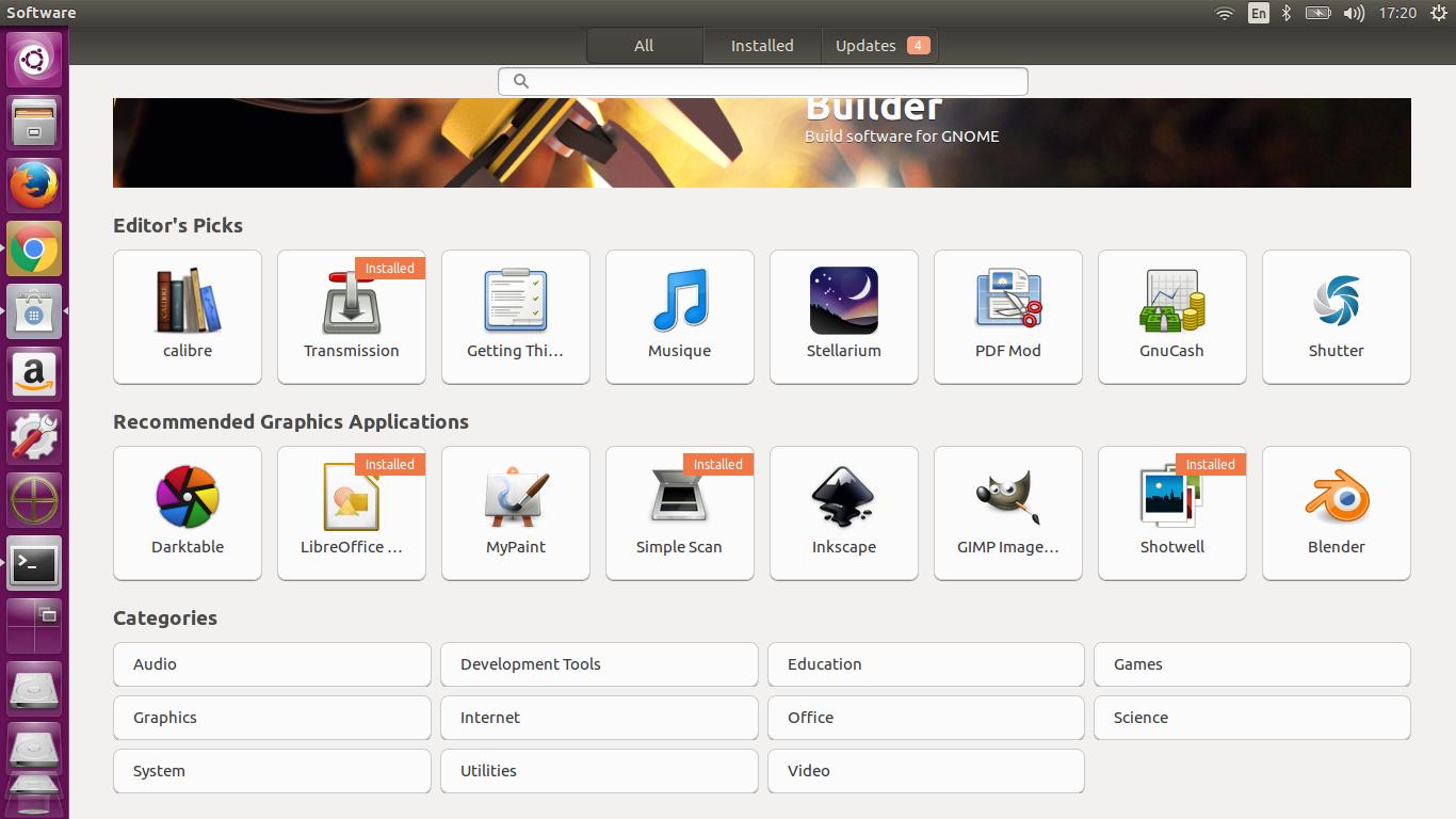 software center ubuntu 16.04 LTS