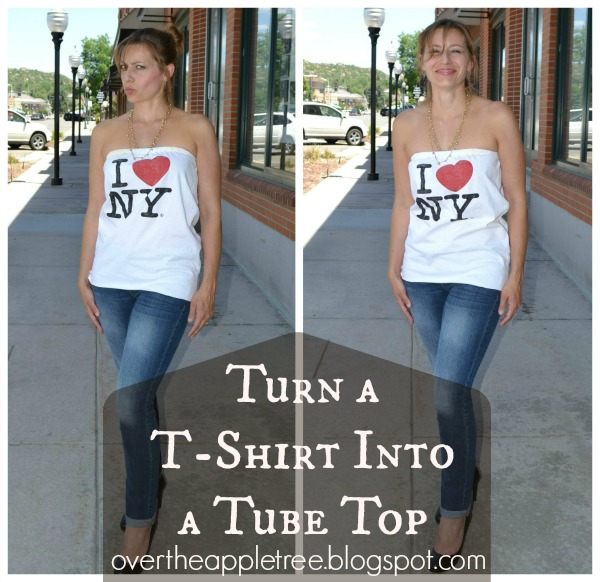 T-shirt Tube Top by Over the Apple Tree