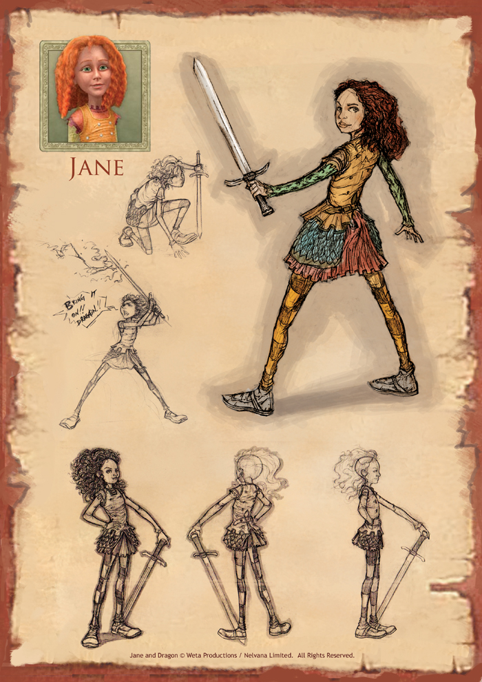 K Artoonarts Conceptual Works For Jane And The Dragon