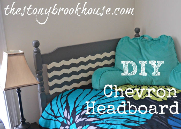 DIY Chevron Headboard