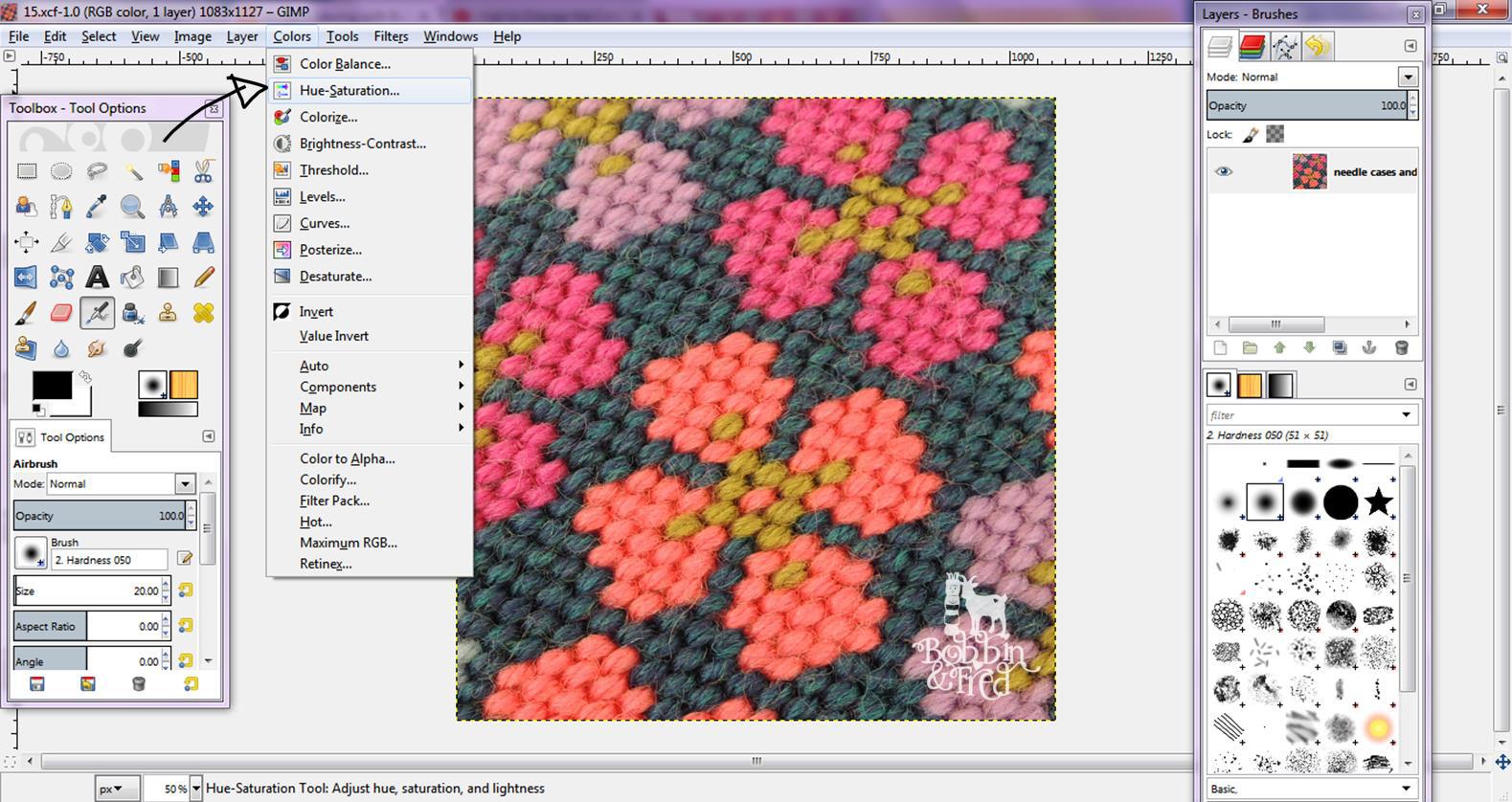 Tutorial: Easy Image Manipulation for Needlepoint Design