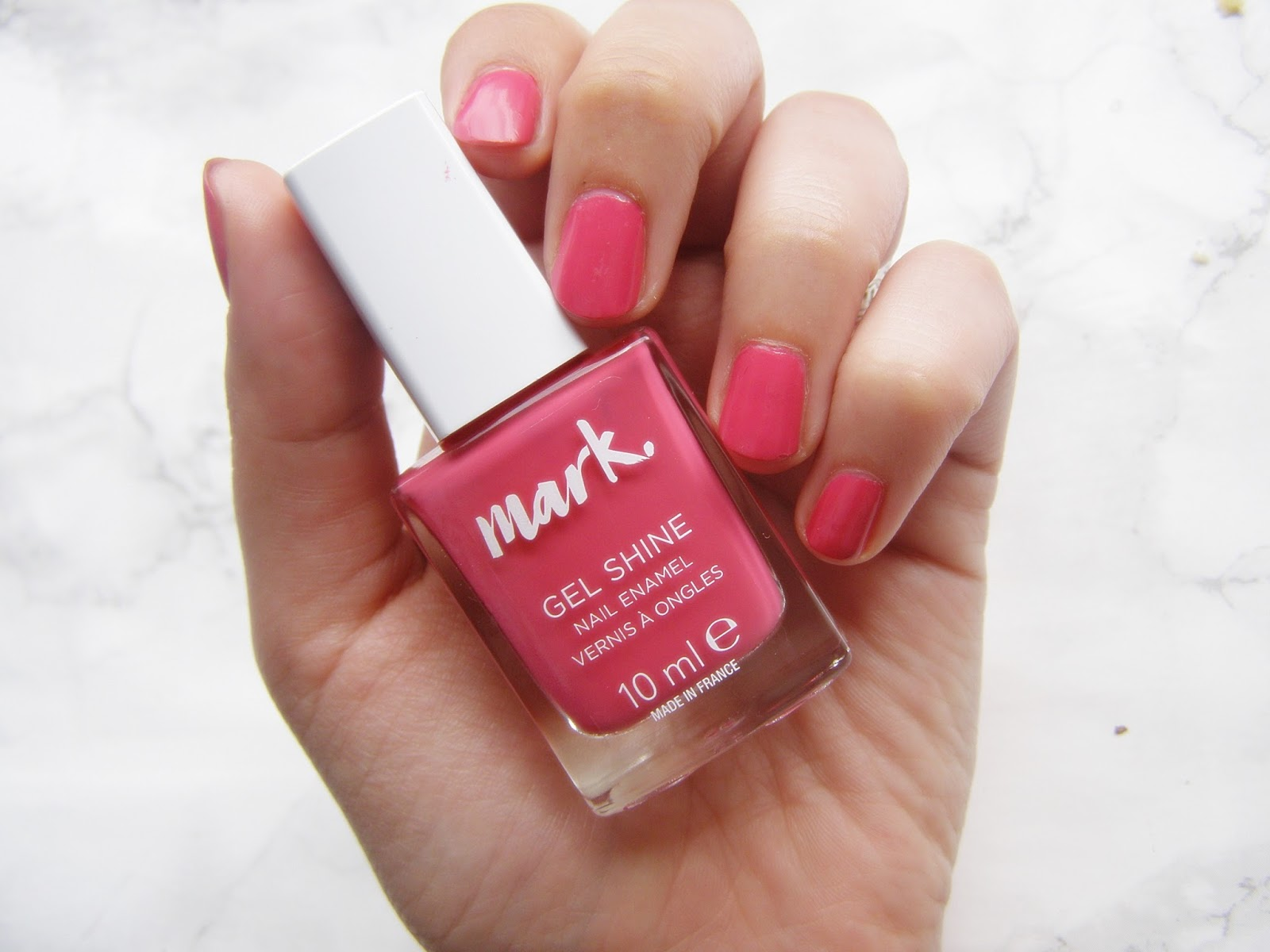 Masywnie Avon Mark, żelowe lakiery do paznokci: Violaceous, Cerise - ly QN11