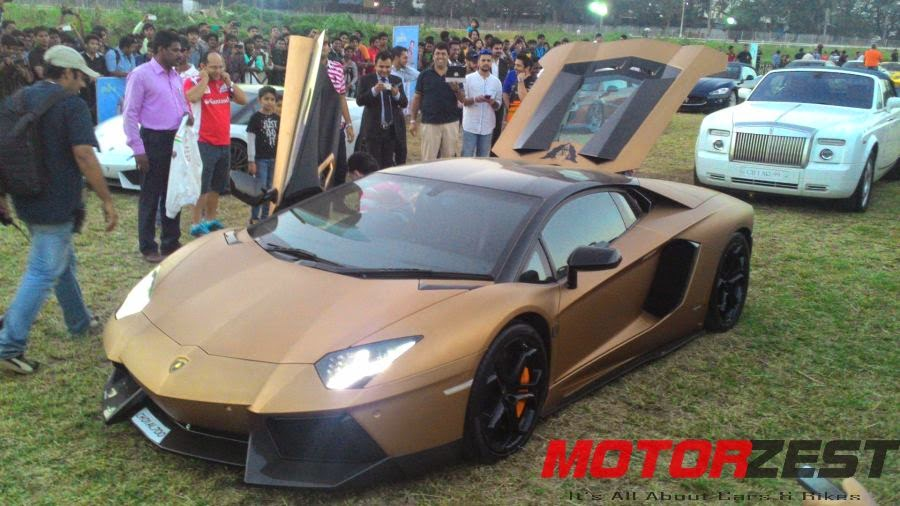 Lamborgini Aventador at 2015 Parx Super Car Show in Mumbai