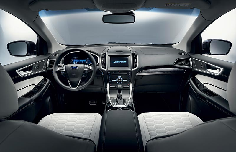 New 2017 Ford Edge Vignale Interior Pictures And Dashboard Photos
