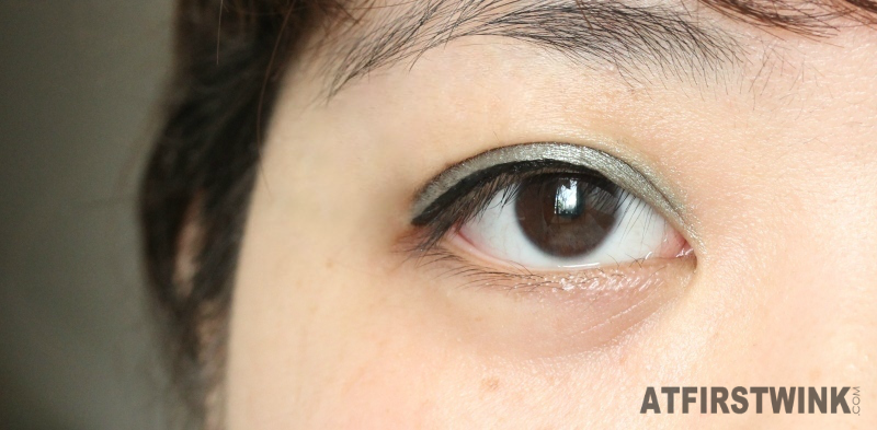 Review MAC extra dimension eye shadow silver sun light green grey shadows Miss Sporty Pump Up Booster 24h waterproof black
