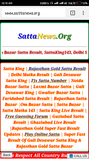 Top 12 Www Up satta King Result - Gorgeous Tiny