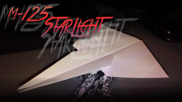 Avión de papel M-125 StarLight