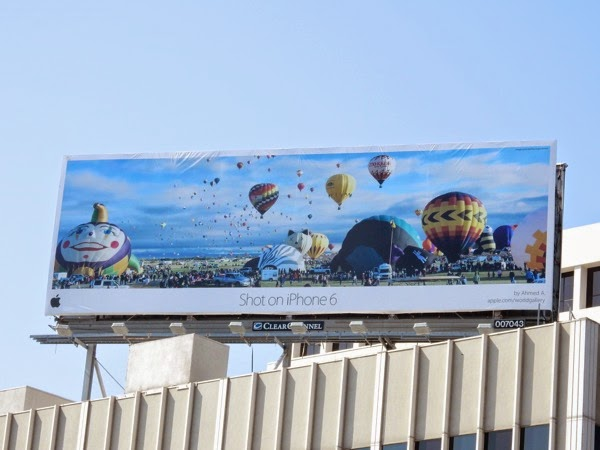 Shot on iPhone 6 Hot air balloons Ahmed A billboard