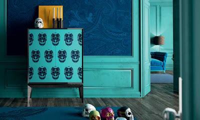 decoracion azul