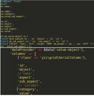 Bagaiamana caranya  nampilin data join di Gridview pada PHP Script Mysql