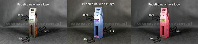 Pudełko na świąteczne wino z logo