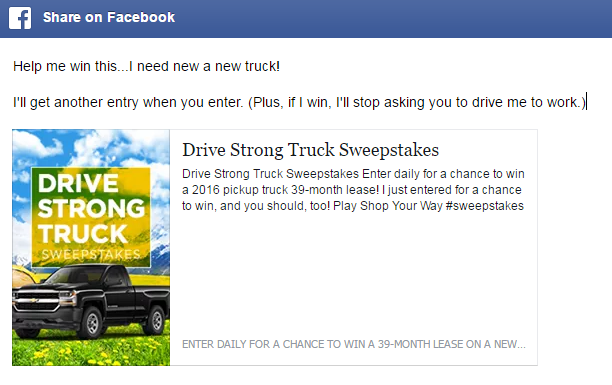 Enter for a chance to win a new truck