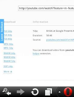 download Youtube Opera Mini