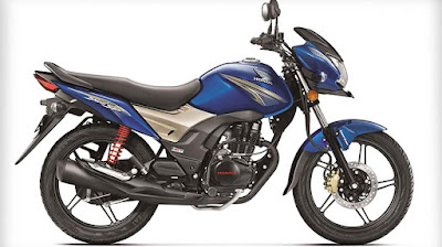 All New 2017 Honda CB Shine SP blue pics