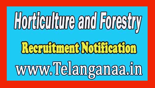 UUHF (Uttarakhand University of Horticulture and Forestry) Recruitment Notification 2017
