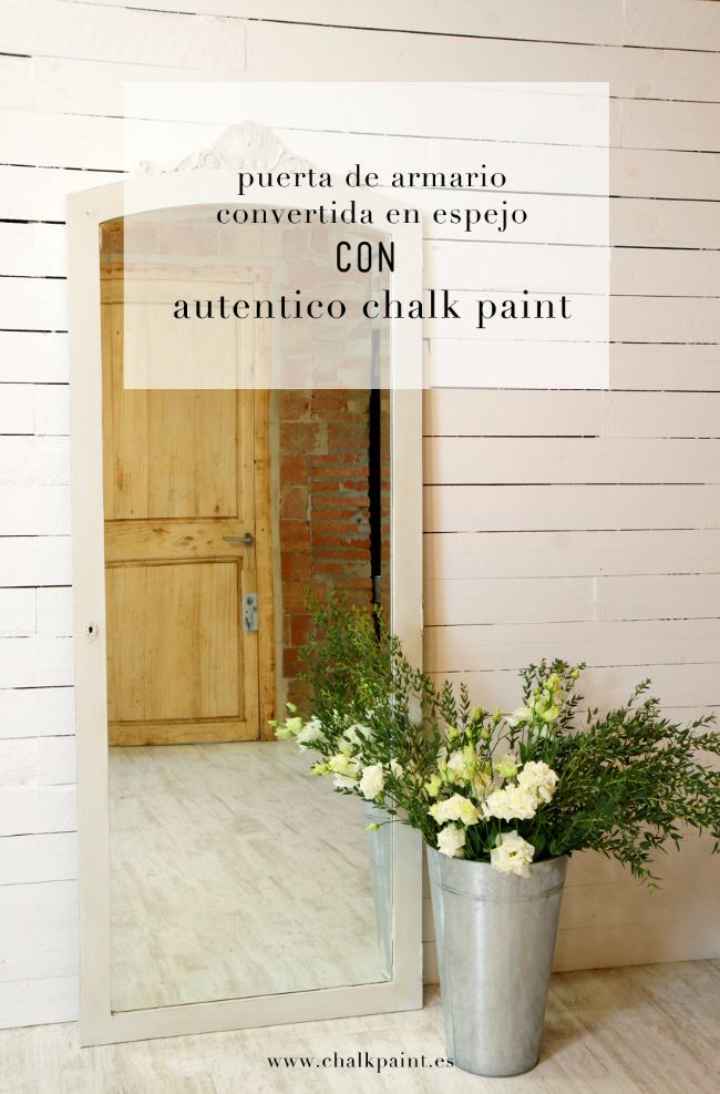 Tutorial chalk paint espejo