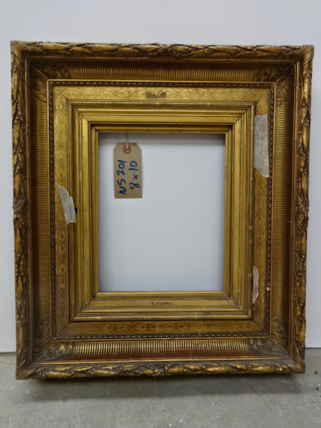 Antique Frame Fluted Empire 19th Century
