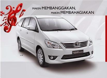Tinta Hitam Kertas Putih Brosur Toyota Innova 2012