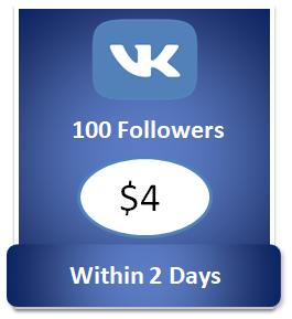 100 buy Vkontakte Followers Cheap