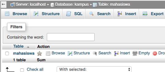 cara membuat database dengan phpmyadmin