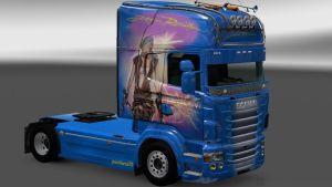 Resident Evil skin for Scania RJL