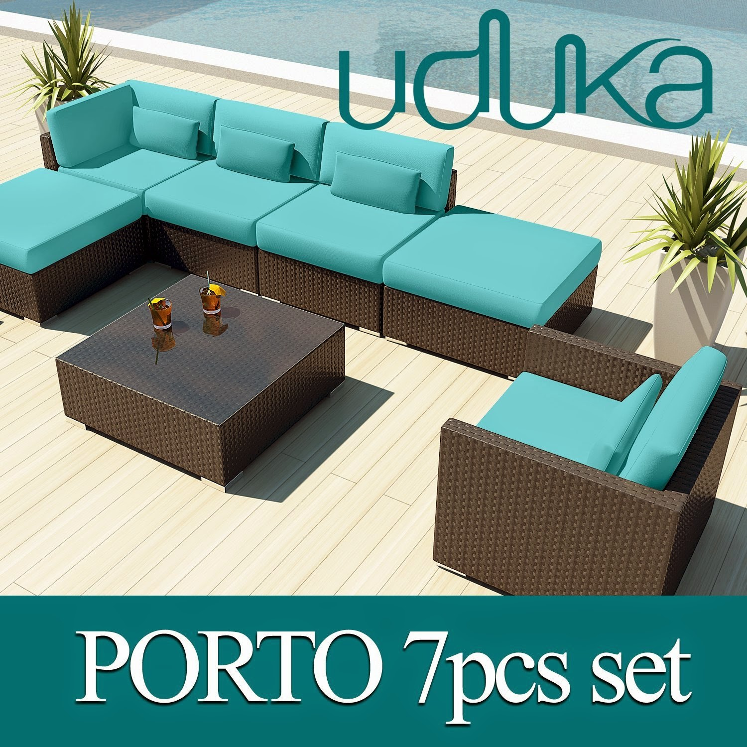 Outdoor Sectional Patio Furniture Sofa
