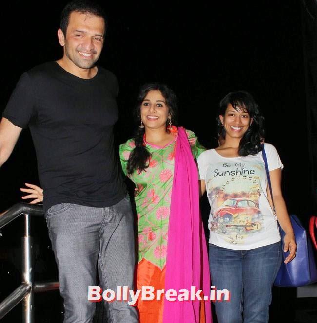 Vidya Balan with Atul Kasbekar, Vidya Balan, Dia Mirza at Special Screening of Bobby Jasoos