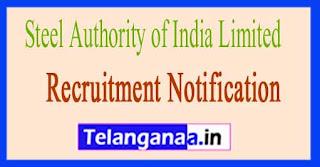 Steel Authority of India SAIL Recruitment Notification 2017