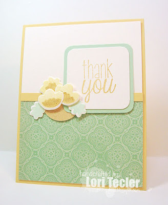 Thank You card-designed by Lori Tecler/Inking Aloud-stamps and dies from Avery Elle