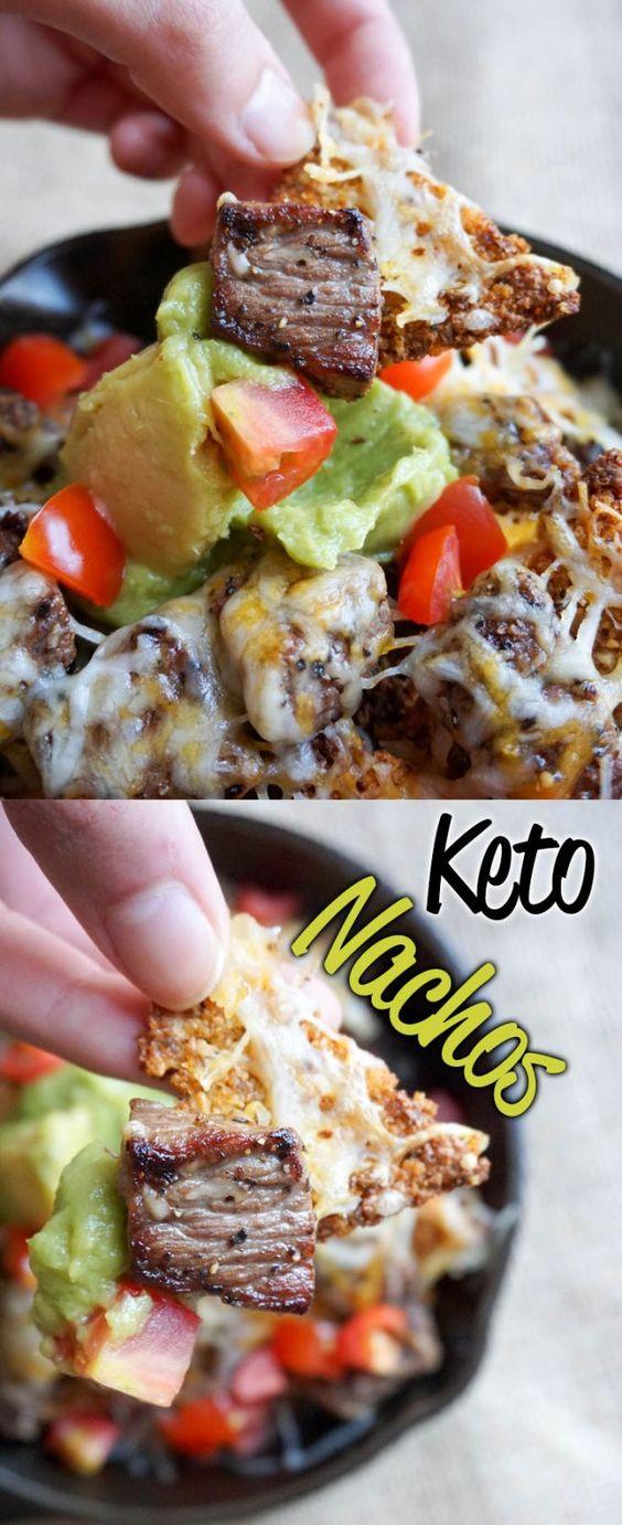 Keto Pork Rind Nachos #keto #maindish